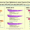 Memorial Day Weekend 2016 Dance Events in Los Angels California